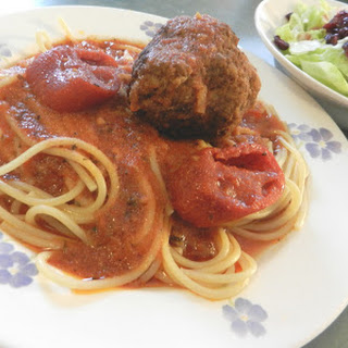 Spaghetti Sauce with GIANT Meatballs