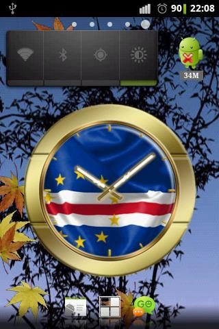 Cape Verde flag clocks