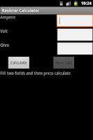 Screenshot of Resistor Calculator