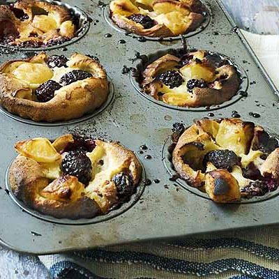 Blackberry & apple Yorkshire puddings