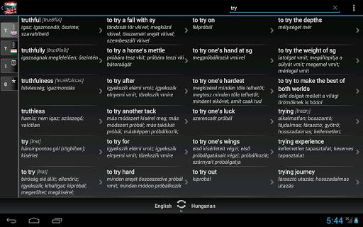 Dictionary Hungarian English - screenshot