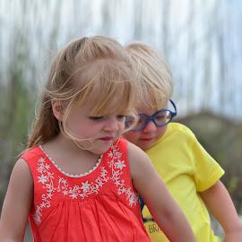Siblings by Jan Herren - Babies & Children Children Candids ( girl, family, beach, siblings, boy )