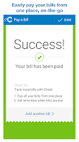 Screenshot of Check: Pay bills, credit cards