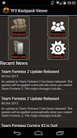 Screenshot of TF2 Backpack Viewer