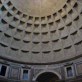 Pantheon, Rome Italy by David Gilchrist - Buildings & Architecture Architectural Detail
