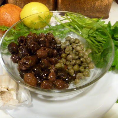 Flageolet Bean Salad With Fennel, Orange, And Tapenade Toasts