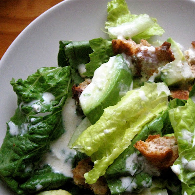Lemon Yogurt Caesar Salad
