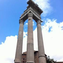 Roman Ruins by Shona McQuilken - Buildings & Architecture Statues & Monuments ( history, sky, rome, columns, cloud )
