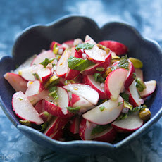 Radish Salad with Mint and Pistachios