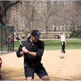 Stike 1!!! by DeAndre Watkins - Sports & Fitness Baseball ( park, baseball, central park,  )
