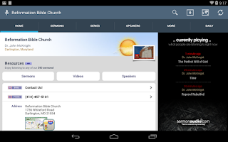 Screenshot of Reformation Bible Church