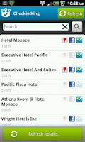 Screenshot of Checkin King for Facebook, 4SQ