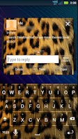 Screenshot of GO SMS Cheetah Theme