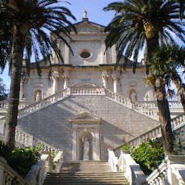 Our Lady temple in Prcanj, Montenegro by Bogdan Kušević - Buildings & Architecture Public & Historical ( montenegro, baroque, church, world haritage, dome, kotor, unesco, temple, palm, prčanj, staircase, monument, bay of kotor )