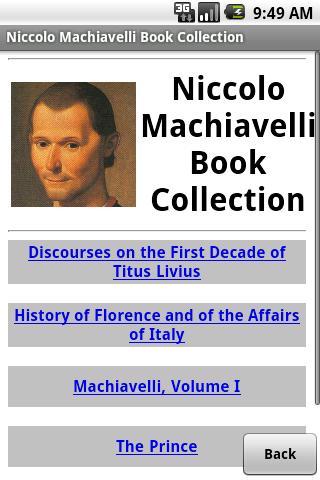 Niccolo Machiavelli Collection