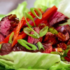 Flank Steak Lettuce Wraps