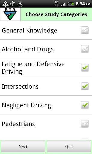 RTA Car Driver Knowledge Test