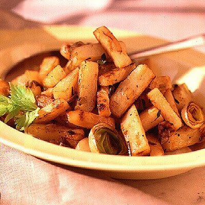 Celery Root, Potato, and Leek Home Fries