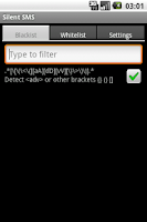 Screenshot of Silent SMS Pro