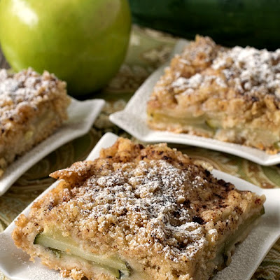 Apple Zucchini Crumb Bars