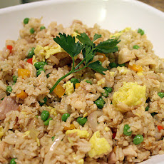 Chicken Fried Rice With Anchovies and Peas