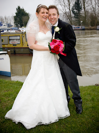 Claire wearing wedding dress 'Lula',