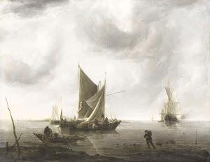 RIJKS: Jan van de Cappelle: painting 1679