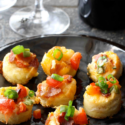 Savory French Toast Bites with Bacon, Tomato & Cheese
