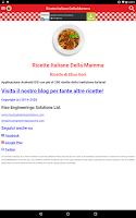 Screenshot of Ricette Italiane della Mamma