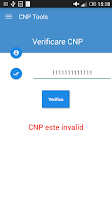 Screenshot of CNP Verificare / Generare