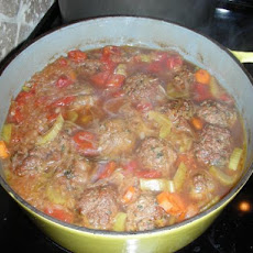 German Bavarian Meatball Stew