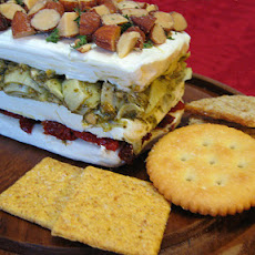 Layered Sundried Tomato and Artichoke Spread