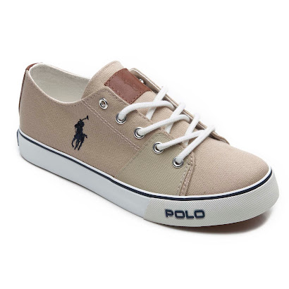 Ralph Lauren Canvas Lace Up Trainer TRAINER