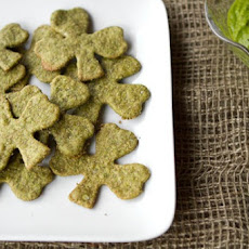 Sneaky Shamrock Spinach Crackers