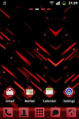 GO Launcher EX Theme Red Futur