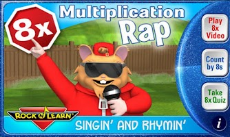 Screenshot of Multiplication Rap 8x