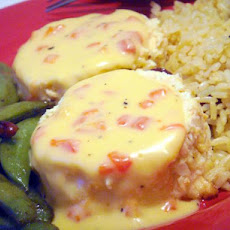 Salmon Cups With Cheese Sauce