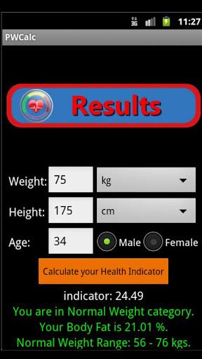 Weight Health Indicator