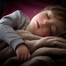 Sound Sleep by Mike DeMicco - Babies & Children Child Portraits ( dreaming, calm, innocent, children, little, sleeping, cute, kid, comfortable, child, serenity, handsome, boy, light )