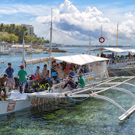 Interisland-Tourist Boats by Ferdinand Ludo - Transportation Boats ( diving boats, cebu, bangca-tourist boats, philippines )