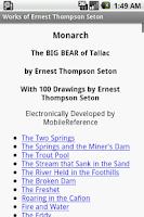 Screenshot of Works of Ernest Thompson Seton