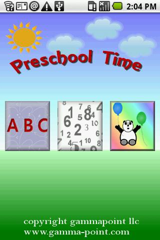 Preschool Time