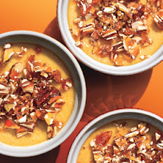 Maple Pots de Crème with Almond Praline