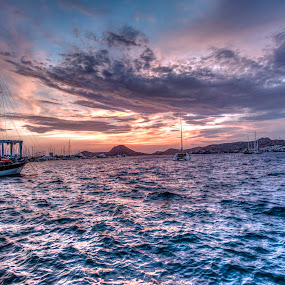 HDR Try (Yalıkavak/Bodrum) by Bariscan OZKALAY - Landscapes Cloud Formations ( sky, hdr, wide angle, yalıkavak, d7000, sea, turkey, bodrum, nikon, tokina )