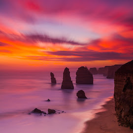 12 Apostles by Cory Marshall - Landscapes Sunsets & Sunrises