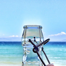 Summer by Christos Demopoulos - Instagram & Mobile iPhone ( sky. athens, greece, sea, summer, bottle )