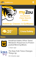 Screenshot of GoMizzou