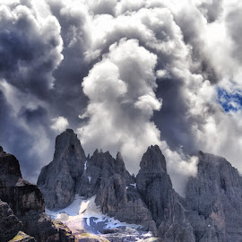Dolomiti by Stefano Venturi - Landscapes Mountains & Hills ( clouds, mountain, dolomiti, sunset, italy )
