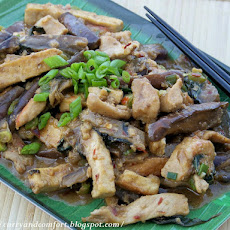 Pork, Tofu and Eggplant Stir Fry with Thai Basil