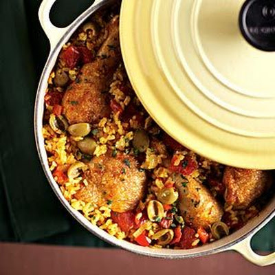 Chicken with Saffron Rice